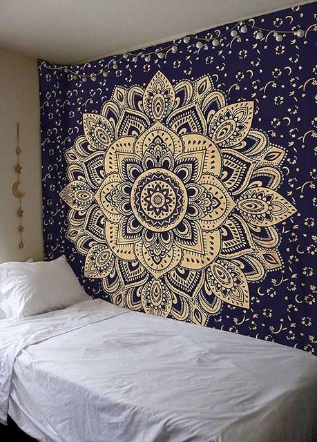 cilected lotus totem mandala tapestry india bohemian. Black Bedroom Furniture Sets. Home Design Ideas