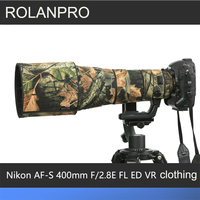ROLANPRO Lens Clothing Camouflage Coat Rain Cover for Nikon AF S 400mm F2.8E FL ED VR Lens Protective Sleeve Guns Protector Case