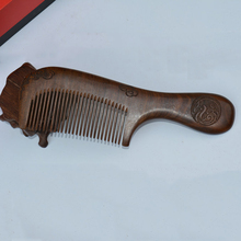 Brown Carved Comb Sandalwood Comb  Anti-Static High Quality Family Comfortable Combs