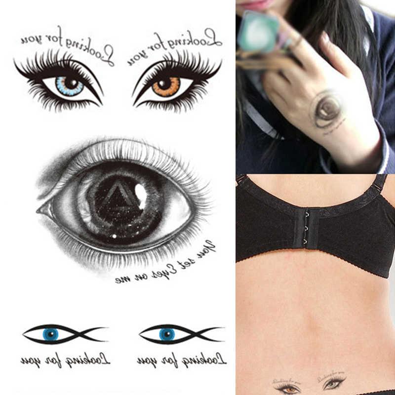 Olhos Grandes Olhos Esquisitos Olhos Assustadores do dia das bruxas Adesivos Tatuagem Adesivos À Prova D' Água Adereços Truque Sangramento Assustador Olhos Tatuagens Temporárias