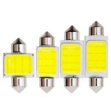 1 шт. автомобильный Стайлинг гирлянда 31 мм 36 мм 39 мм 41 мм светодиодный светильник C3W C5W C10W 3 Вт COB светодиодный светильник 12 чипов светодиодный потолочный светильник белого цвета