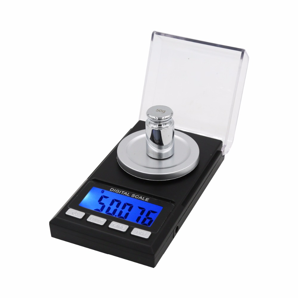 50g x 0.001g Mini Precision Digital Scales for Gold Sterling Silver Jewelry 0.001 Balance Weight Electronic Scale  39%Off