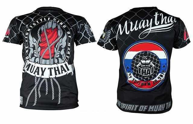 ملابس الملاكمة التايلاندية ذات الاكمام القصيرة التي شيرت كمال الاجسام نمط القتال ملك الملاكمة التايلاندية التسامي طباعة Mma Rashguard جيو جيتسو