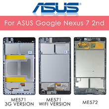 Original 7.0'' For ASUS Google Nexus 7 2nd 2013 FHD ME571 ME571K ME572CL K008 K009 LCD Display Touch Screen Digitizer Assembly цена