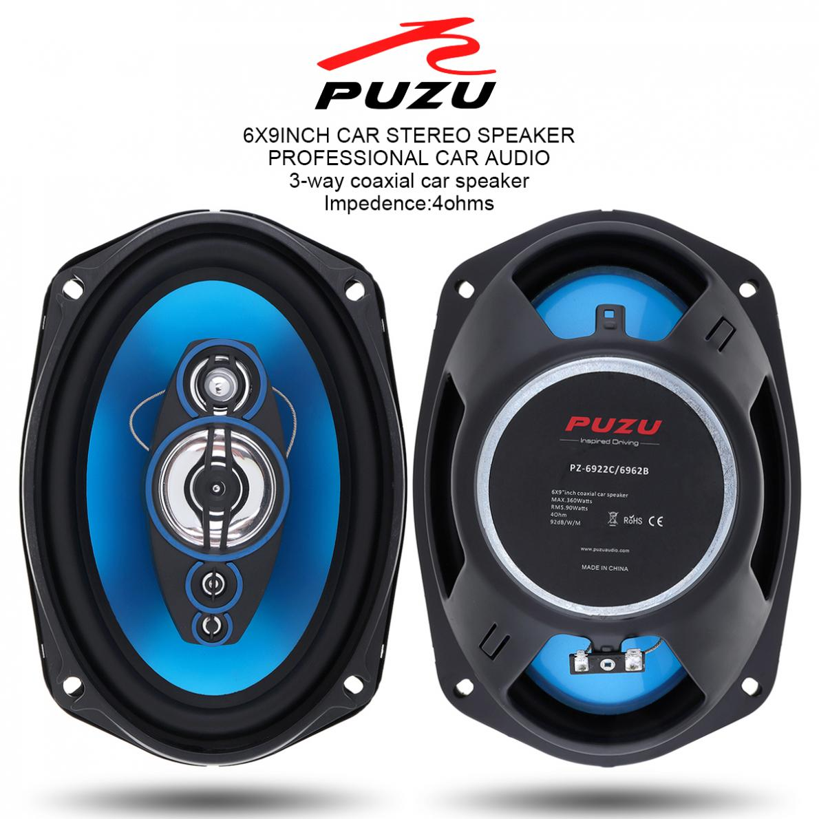 1Pair 6x9 Inch 360W 3 Way Universal Car Coaxial Speaker 12 V Auto Audio Music Stereo Full Range Frequency Hifi Speakers hot sale 6x9 inch powerful car audio speaker 1200watts coaxial louder acoustic auto speakers parlantes