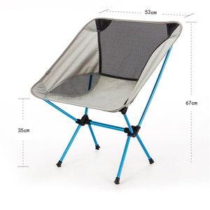 Image 5 - נייד מושב קל משקל דיג כיסא אפור קמפינג שרפרף מתקפל חיצוני ריהוט גן חדש Al נייד קל במיוחד כיסאות