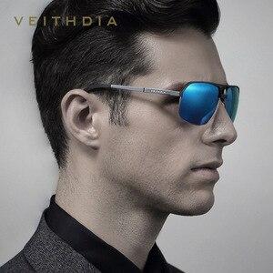 Image 4 - OCCHIALI DA SOLE VEITHDIA di Alluminio Magnesio Occhiali Da sole Polarizzati degli uomini Occhiali Da Sole Quadrati Dellannata di Sesso Maschile occhiali da Sole Accessori di Eyewear oculos Per Gli Uomini 6521