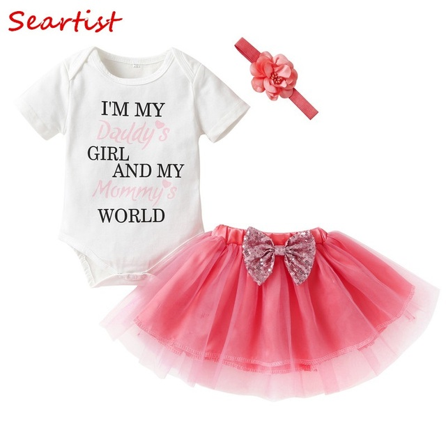 1664e8d3eeb1 Seartist 1st 2nd 3rd Birthday Baptism Dress Baby Girl Valentine s ...