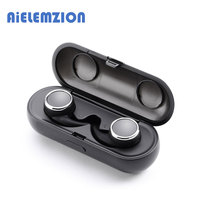 AiELEMZION R160 TWS Bluetooth V4.1 True Wireless Stereo Earphone Mini Invisible Earbud with Microphone 300mAh Charging Box