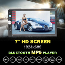 Universal 7 Inch 2 Din Bluetooth Car MP5 Player Touch Screen In Dash Auto Media Stereo Radio Support Rear Camera FM/USB/SD/AUX