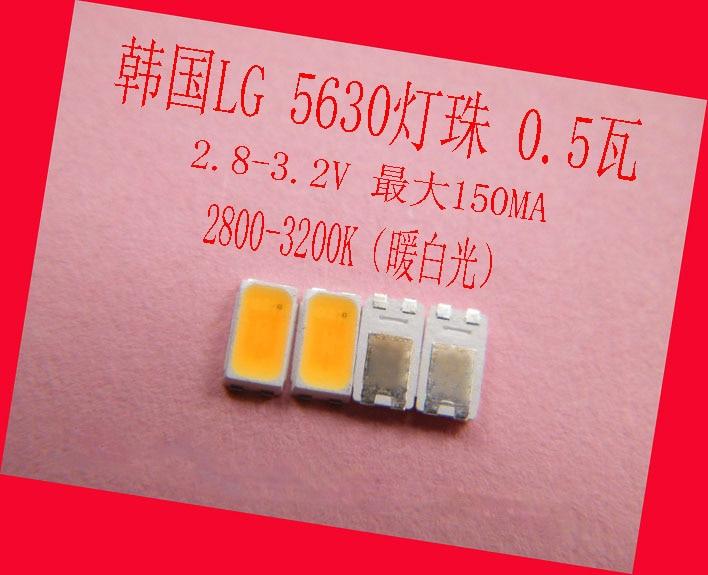 SMD LED Beads LG 5630 2.8-3.2V 150MA 0.5W 2800-3200K Warm White For ,Spotlights, Ceiling Lamp Bulb Lamp