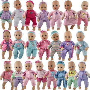 Кукольная одежда, 20 шт./1 комплект, Розовый Повседневный костюм + платье с шапкой, аксессуары для игрушек, 14 дюймов, 36 см, Детская кукла, лучший ...