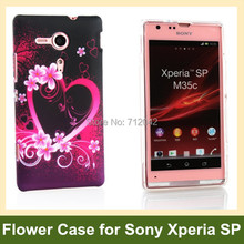 OEEKOI Love Garden Butterfly Flower Print Soft Gel TPU Cover Case for Sony Xperia SP M35c M35h Free Shipping
