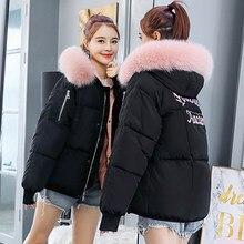 Корейский стиль 2019 г. женские короткие Куртки с мехом теплые зимние femme  пальто Верхняя одежда c579b25d8c1