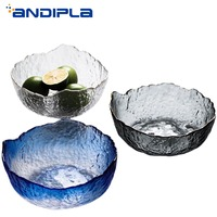 Nordic Style Glass Bowl Creative Fruit Salad Big Bowls Irregular Dessert Mixing Bowls Kitchen Tableware Accessories Container