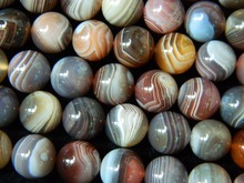 Suministros rebordear 12mm botswana agate beads chunky collar al por mayor freeshipping