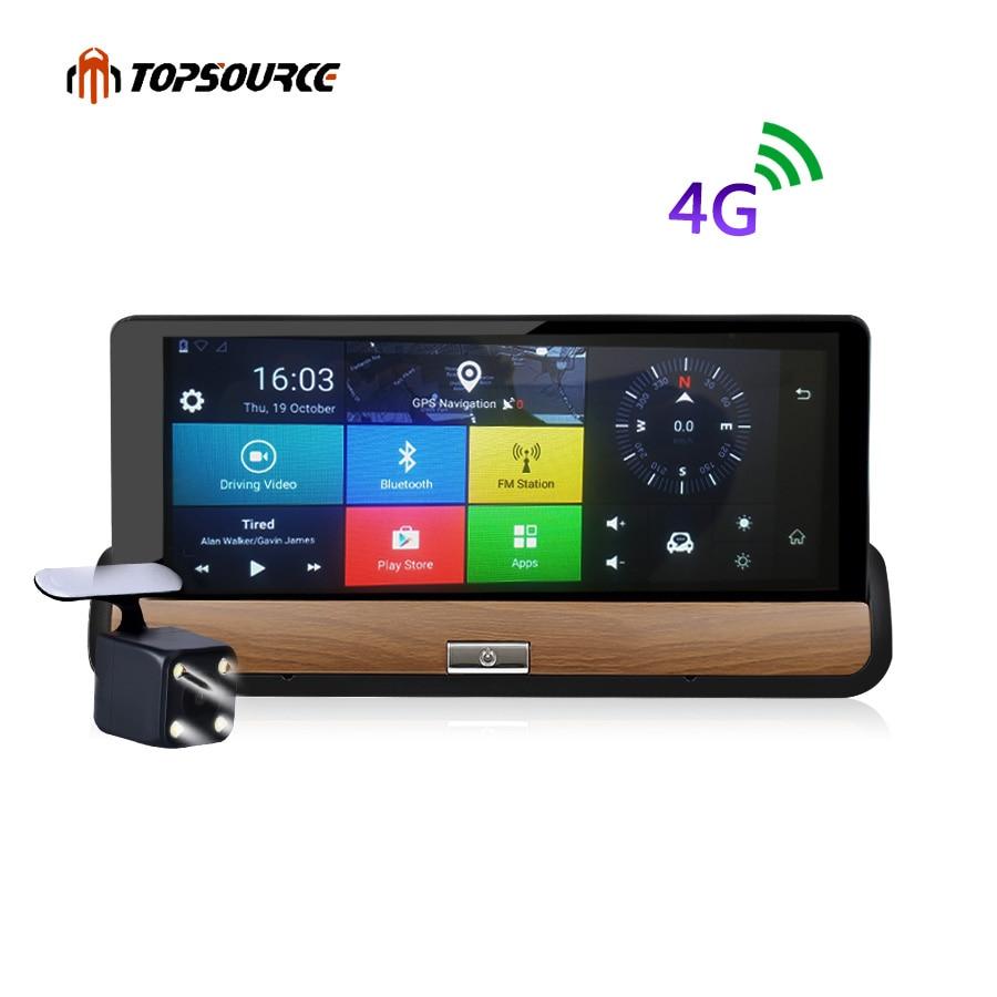 TOPSOURCE 4G 7 inch Center console Car GPS Navigation Android 5 1 BT Navigator DVR FHD