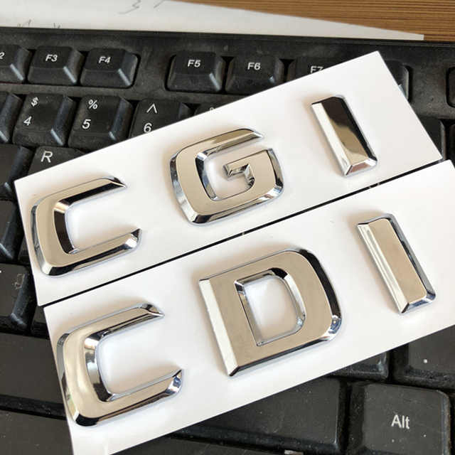 CDI CGI Separate Letters ABS Emblem Car Styling Trunk Logo Badge Sticker Discharging Capacity for Mercedes Benz E260 C E Class