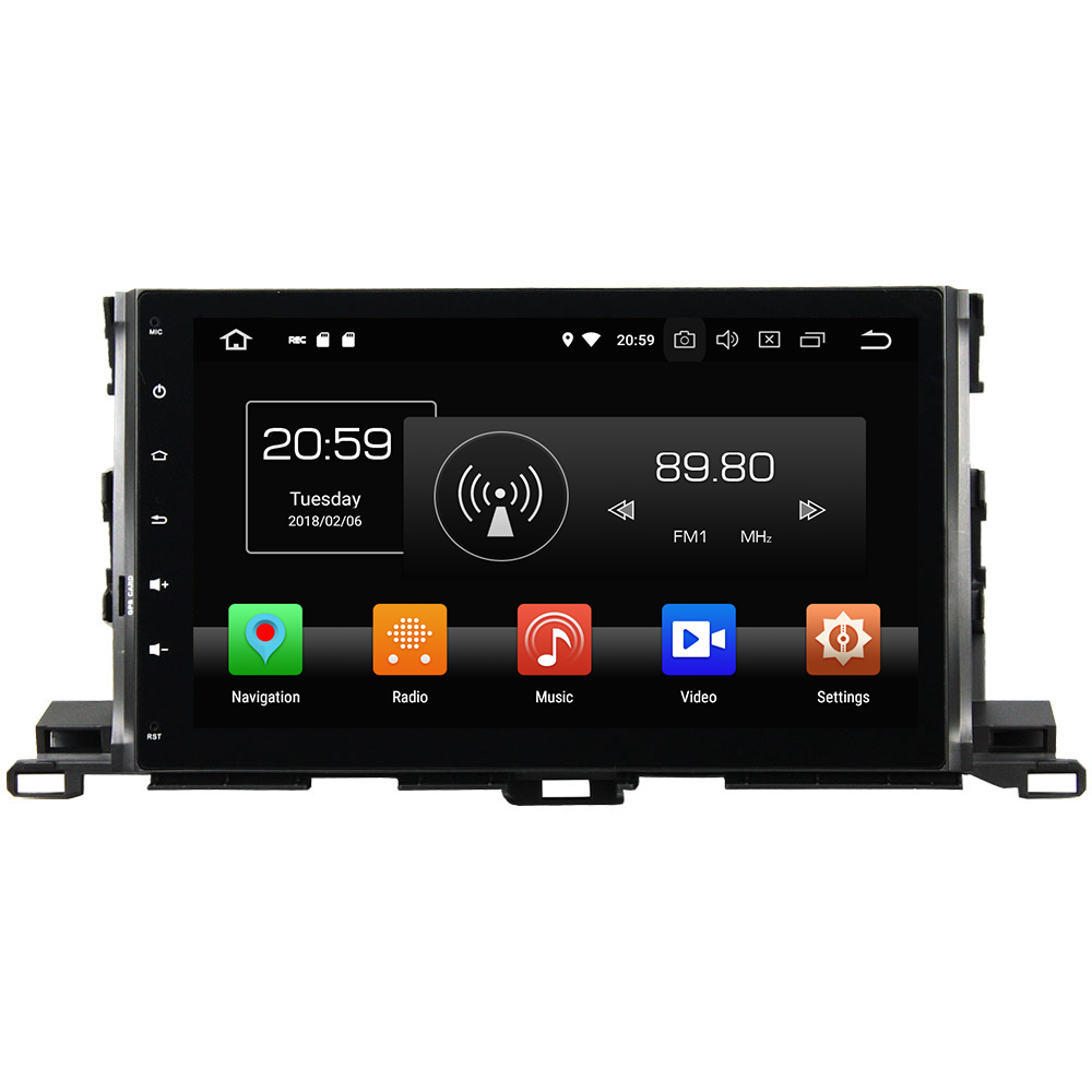 Android 8.0 Octa Core 2 Din 10.1 4GB RAM 32GB ROM Car Radio Stereo Car multimedia Player Bluetoot for Toyota Highlander 2015