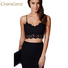 Chamsgend Newly Design  Women Translucent Underwear Sheer Lace Strap Lingerie Tops Camisole 170308 Drop Shipping