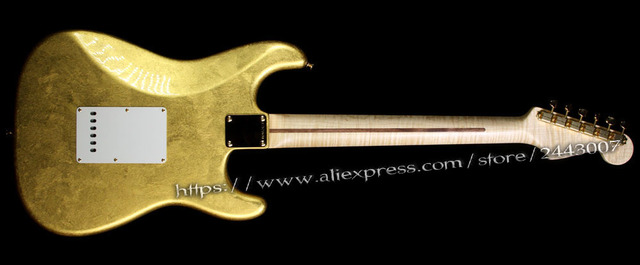 GC Custom Shop Todd Krause Master Built Eric Clapton Electric Guitar Gold Leaf - Right or Left-Handed? 5