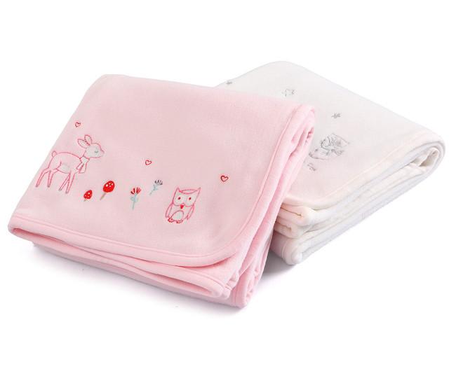 De alta Qualidade Bebê Recém-nascido Receber Cobertores Do Bebê Cobertores de Algodão Do Bebê do Animal do Urso Velo Cobertor Envoltório Swaddle Menina Rosa 0-24 M