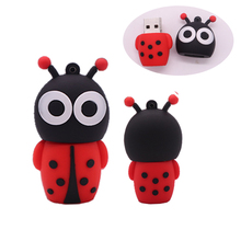 100% Real capacity pen drive 4GB 8GB 16GB 32GB 64GB 128GB memoria usb stick pendrive creative gift cute Ladybug flash