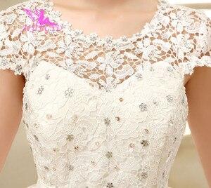 Image 2 - AIJINGYU 2021 תמונות אמיתיות חדש מכירה לוהטת זול כדור שמלת תחרה עד בחזרה פורמליות הכלה שמלות כלה שמלת WK321