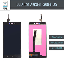 AAA black LCD for Xiaomi Redmi 3S LCD display+touch screen digitizer assembly Hongmi 3S redmi3S Hongmi3S Red Mi 3S 5″ screen
