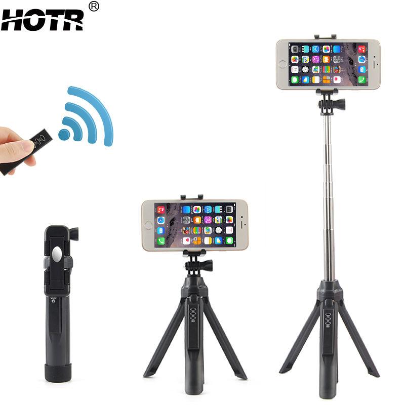 Prix pour Bluetooth Selfie Bâton Trépied Tout-en-Un Sans Fil Par Selfie Android IOS Retardateur Support à Affichage à distance Caméra Tir