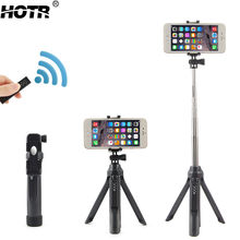 Bluetooth Selfie Stick Tripod All-in-One Wireless Para Selfie Android IOS Self-Timer Stand Holder Display Remote Camera Shooting