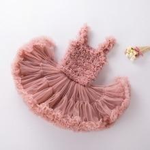 Платье-пачка с оборками для маленьких девочек детское платье-американка пышные вечерние юбка-пачка принцесс на день рождения бальное, Одежда танцев