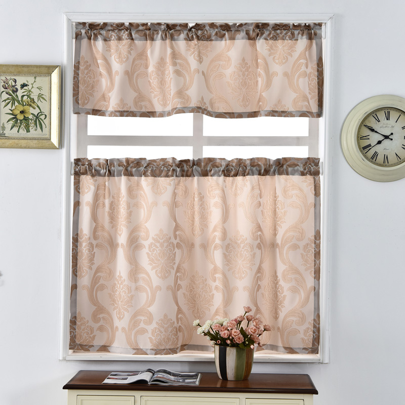 Thick window curtains European kitchen cafe treatments modern shade luxury made style door panel Short ready