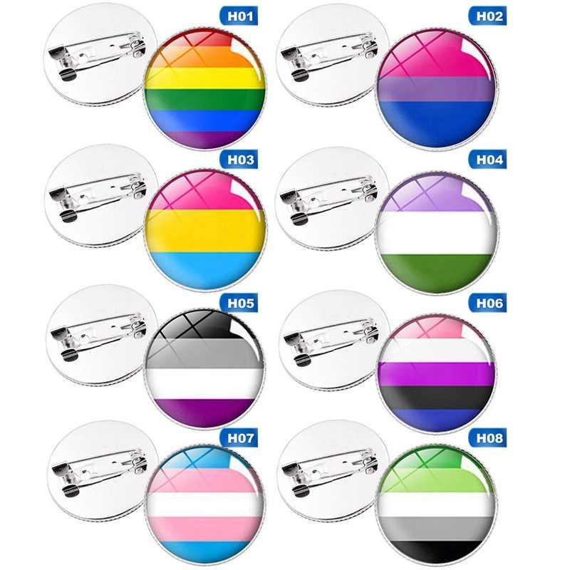 Transgender Pride Regenboog Gay Intersex Aseksuele Pride reversspeldjes Liefde is Biseksuele Pansexual pins panromantic tin badge