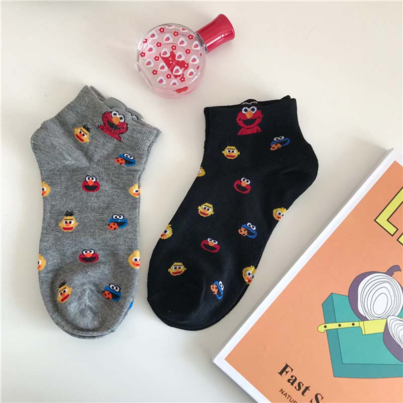 Leisure Shallow Mouth Funny Cartoon Cotton Comfortable Short Sock  Women Breathable Thin Short Sock Hosiery