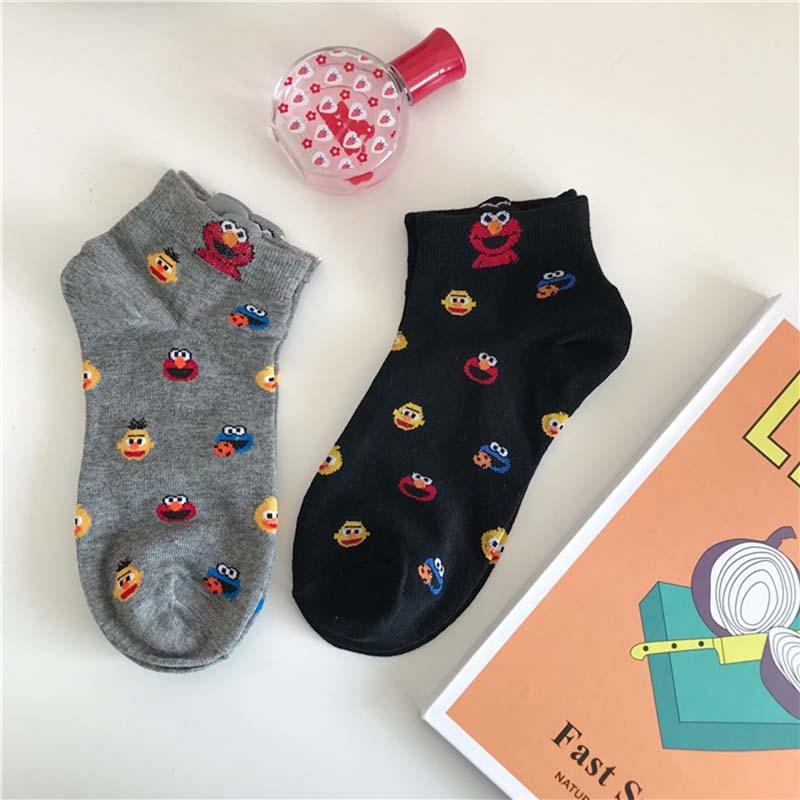 Leisure Shallow Mouth Funny Cartoon Cotton Comfortable Short Sock  Women Breathable Thin Short Sock Hosiery