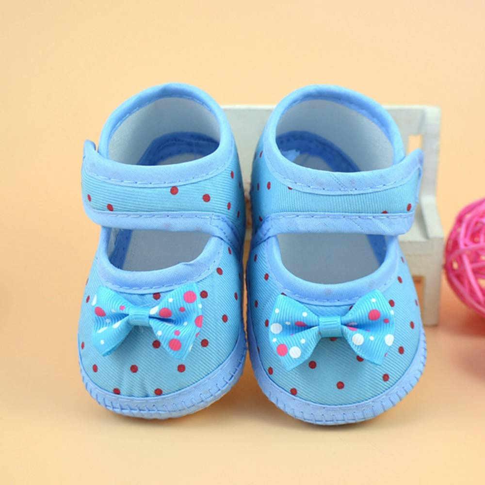 1 para nowonarodzone dziecko chłopiec dziewczyna dziecko Bowknot buciki z miękkimi podeszwami antypoślizgowe obuwie szopka buty 15