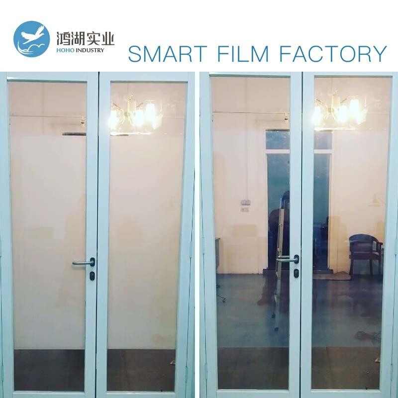 Sunice 7 pièces taille personnalisée intimité magique PDLC Film intelligent bâtiment/Automobile fenêtre teinte magique film intelligent 2 alimentation