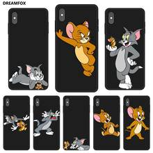 P230 Tom And Jerry Black Silicone Case Cover For Apple iPhone 11 Pro XR XS Max X 8 7 6 6S Plus 5 5S SE цены