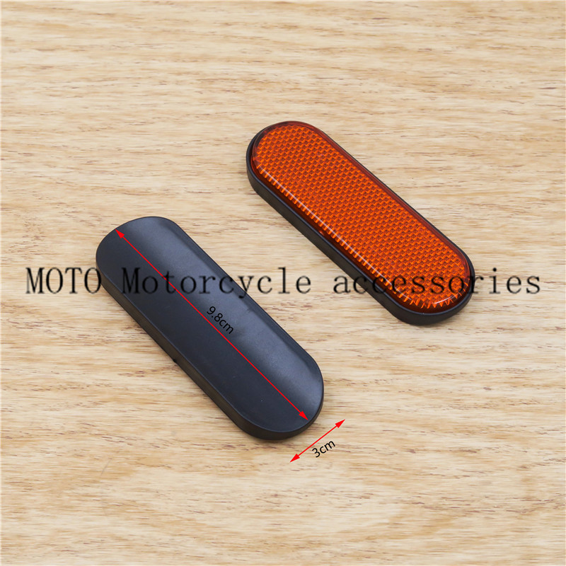 Motorcycle Fork Leg Reflector For Victory & Indian Plastic motorcycle Safety fork reflectors 1 pair front fork leg reflector cover high quality plastics for victory judge hammer s hard ball vision tour high ball jackpot