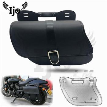 alforjas para mochila pernera bolsa moto saddlebag for Vespa harley Davidson softail sportster motorcycle side saddle bags