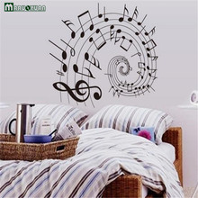 Music Stave Note Wall Stickers Environmental Classrooms Bedroom Living Room Background Decorative
