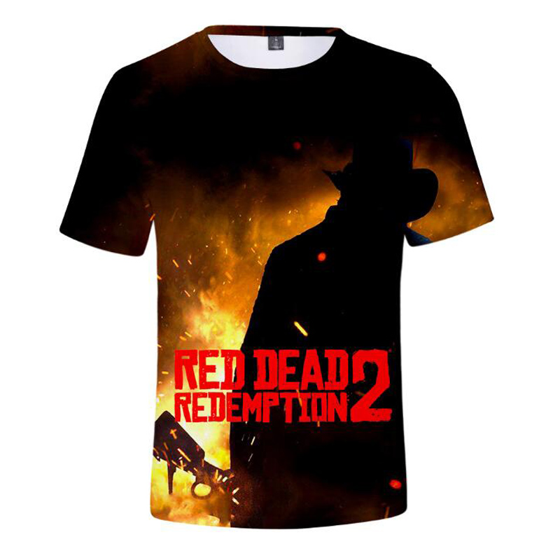 RED DEAD REDEMPTION 2 3D Print T-Shirt Summer Fashion Anime Funny Male TShirts O-Neck Short Sleeve T Shirt Men Camiseta Hipster