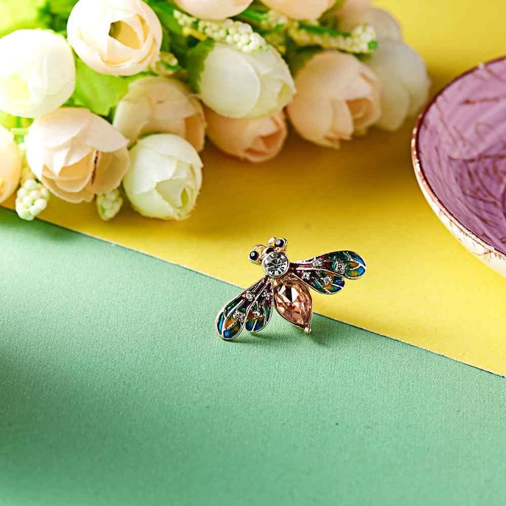 Rinhoo Naturale Piccoli animali insetti formica ape Spille Per Le donne di Cristallo dei monili di Costume accessori Spilla pins