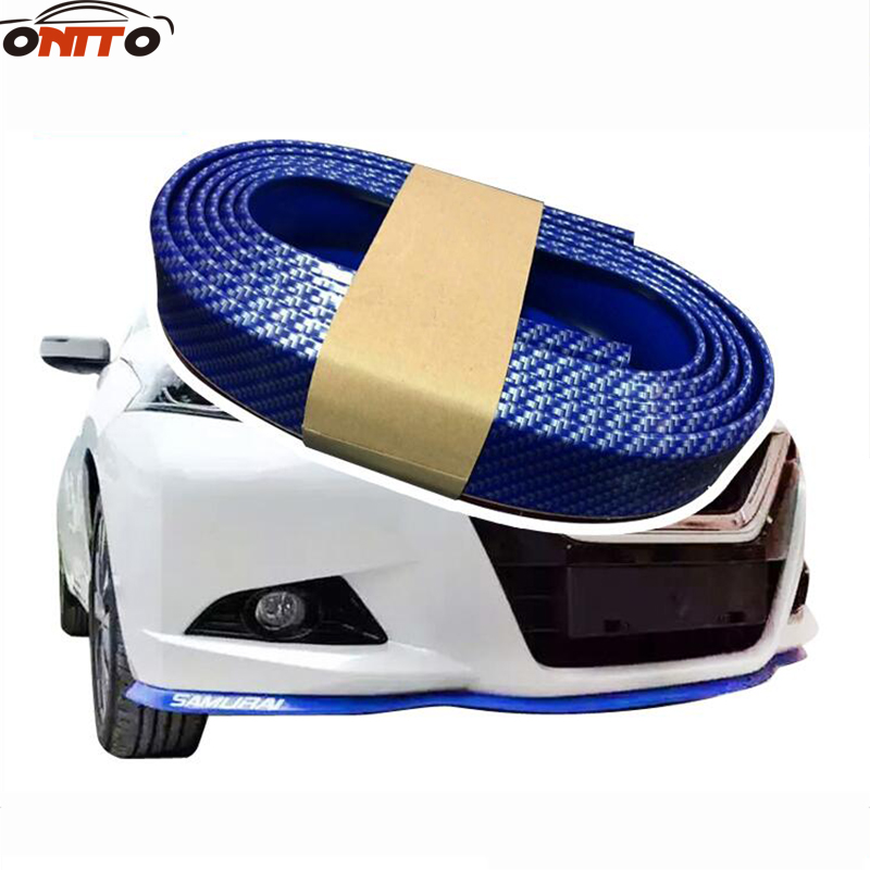 2.5M auto bumper carbon fiber Rubber protection Anti collision car strips For Carolla Camry Reiz Sienna prius Land Cruiser Rav4