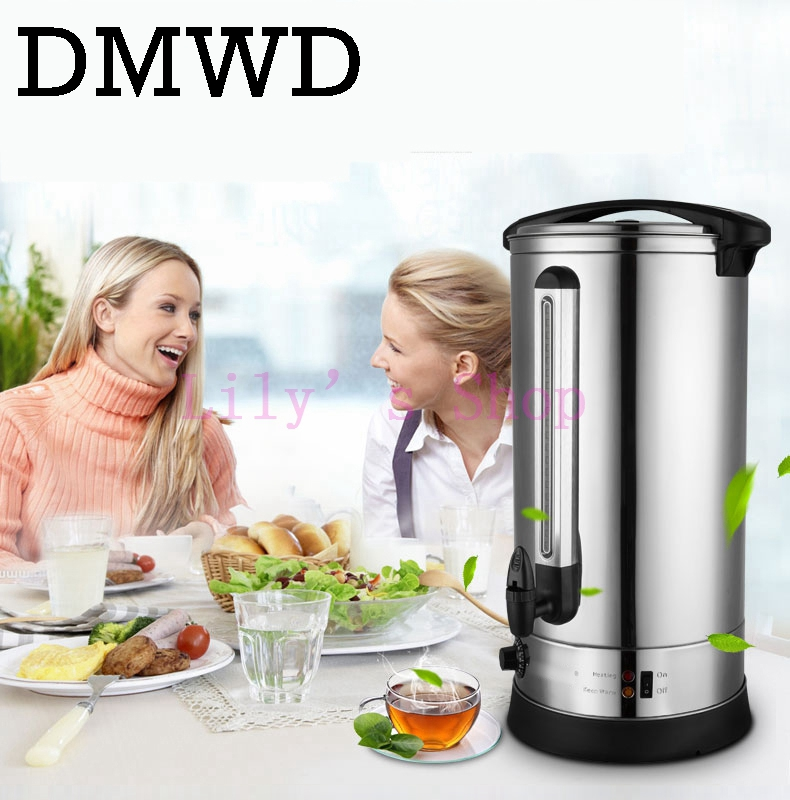 где купить Electric kettle hot water bucket 30L stainless steel water boiler burning water bottle machine commercial for milk tea shop 220V дешево