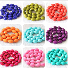 Newly jewelry making baking paint glass colorful teardrop waterdrop 13x9mm loose beads 15″B1086