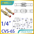 "1/4"" Check Valve with solder connection be used in liquid, suction and hot gas lines in HVAC for replace Danfoss NRVH valves"