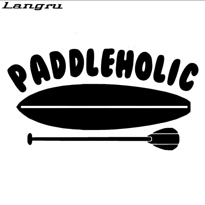 decal sup stand up White Vinyl PADDLE BOARD and PADDLE Sticker