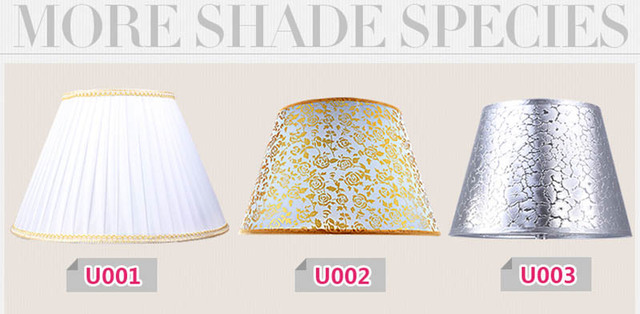 20 pcs E27 handmade classic decorative lamp shades for table lamps fabric cover Rustic Country retro lampshade ring medium